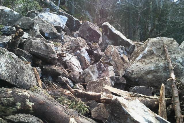 Massiver Felssturz auf dem Zastlerhüttenweg