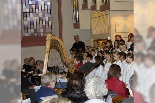 Drei Chöre, Orgel und die Harfe