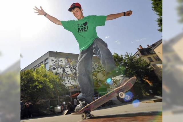 Abstimmung über Skateboard-Standorte: Ein Sponsor ist an Bo(a)rd