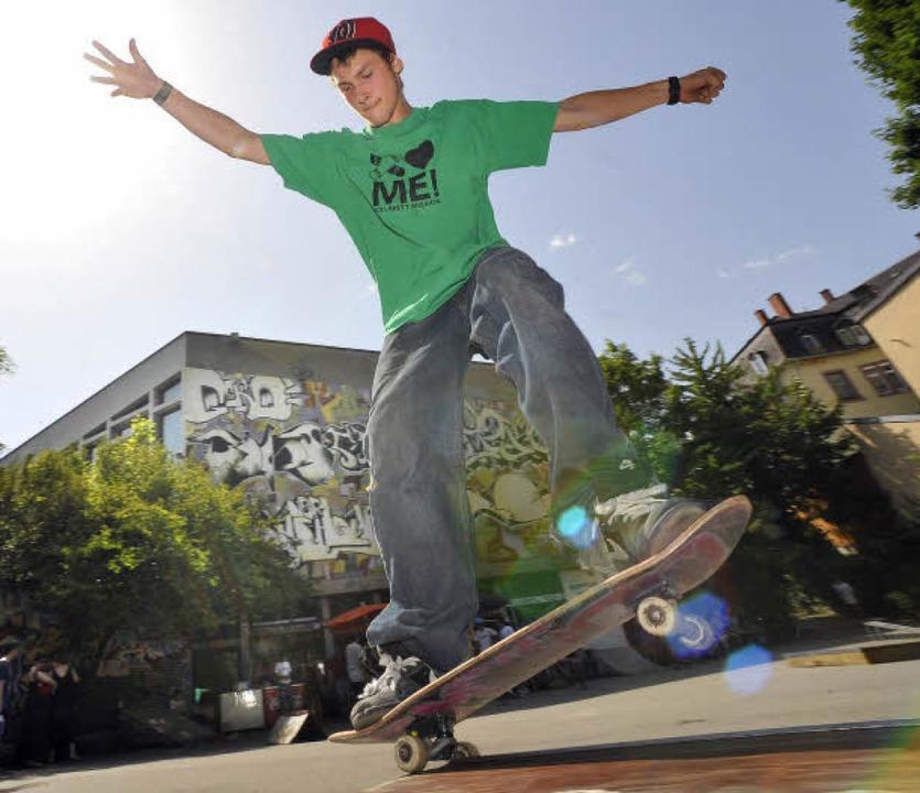 Auch ein Standort für einen Skatepark?...Skateboard-Stadtmeisterschaften statt.  | Foto: MichaelBamberger