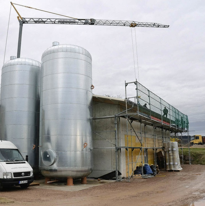 Energie aus Bürgerhand wärmt Hägelberg...hen ist der Bau der Nahwärmezentrale.   | Foto: Robert Bergmann
