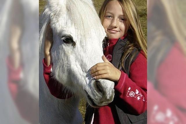 Mein Pferd Silas ist sehr lieb