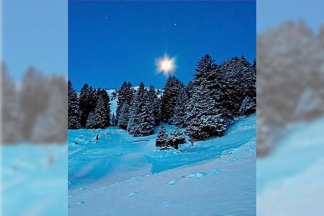 Durch die weiße Winternacht