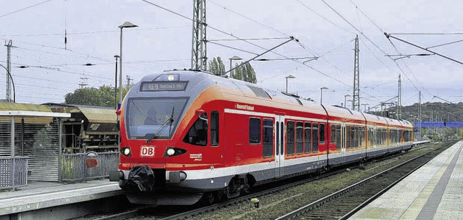 Mit Strom statt Diesel fährt dieser el...eb am Hochrhein ist für 2016 geplant.   | Foto: DB Systel GmbH