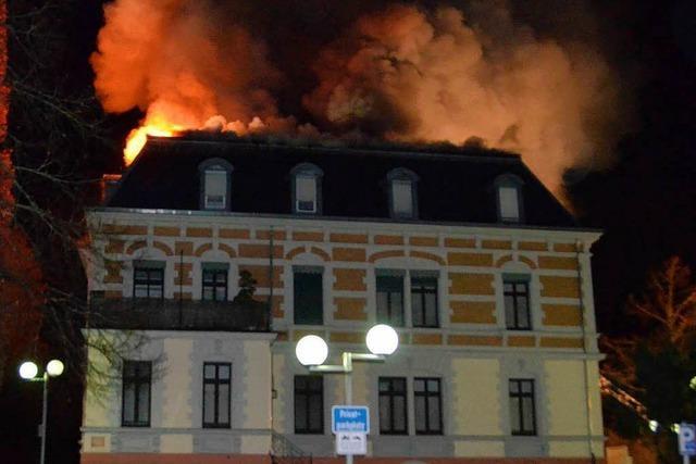 Brand in der Villa Rupp – keine Verletzten