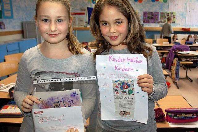 Vanessa und Lorena helfen