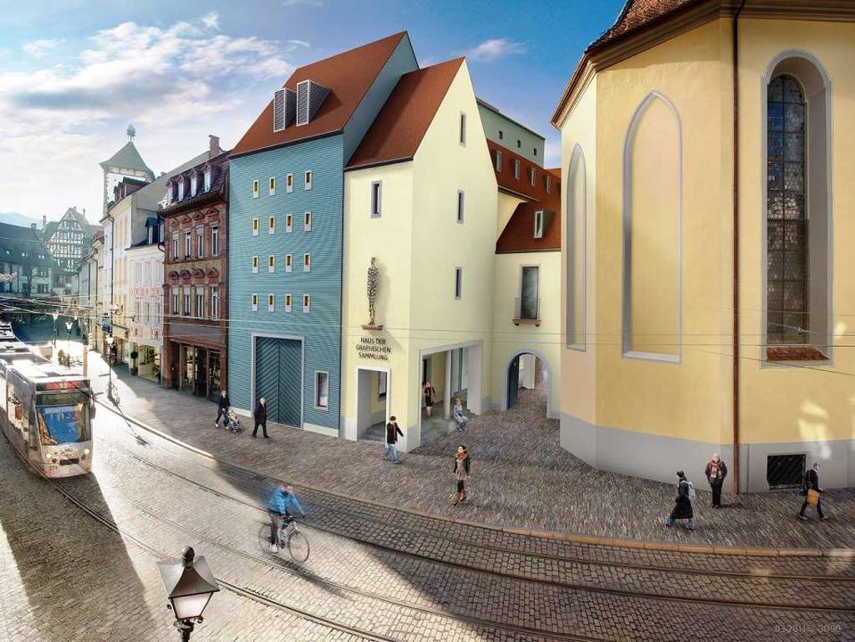 Das Bauprojekt Augustinermuseum nach d...Prof. Mäckler. Visualisierung: M. Dold  | Foto: Markus Dold, www.gd90.de