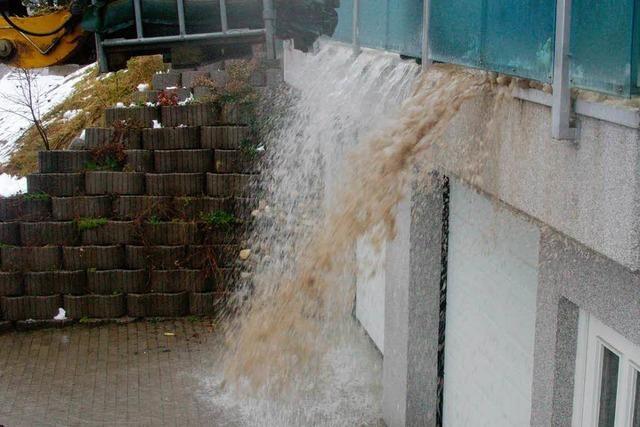 Orkantief Joachim: Wasser sucht sich neue Wege