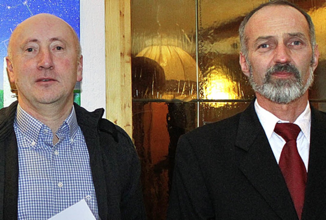 Klaus Knöpfle (links) mit Alfred Müller.   | Foto: Gert Brichta