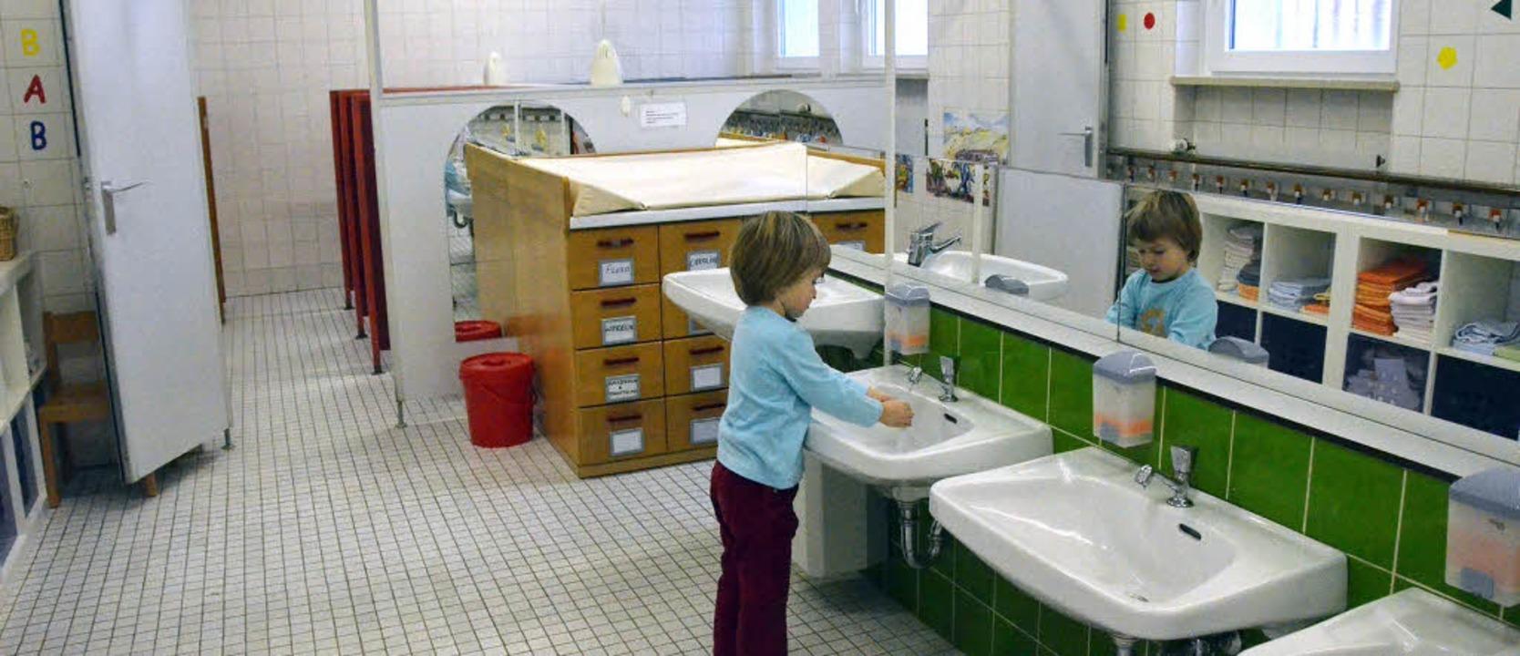 Der Kindergarten St. Martin bekommt nä...–  auch das ist eine Vorschrift.  | Foto: LANGELOTT