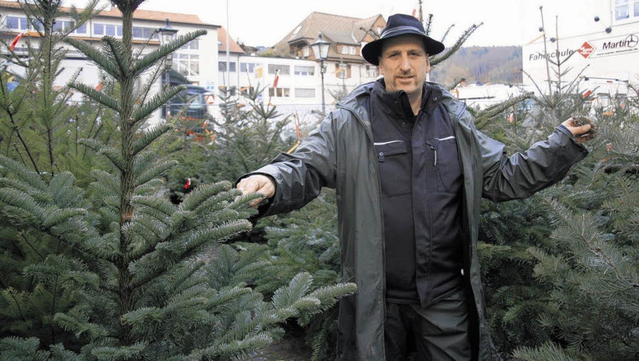 Reinhold Bächle aus Rippolingen verkau...hn verschiedene Baumsorten. Bild: Völk  | Foto: Völk