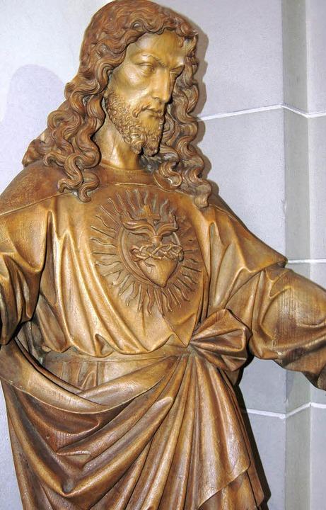 Statue im Kircheninneren    Foto: Jens Klein