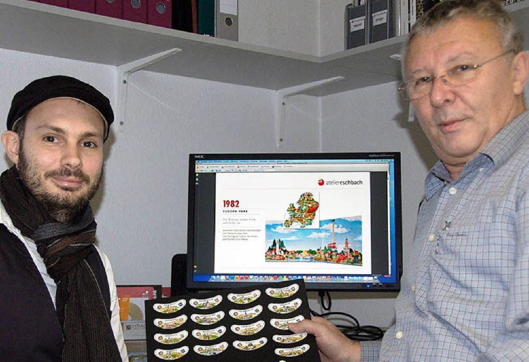 Klaus Eschbach (rechts) und Dominik Eschbach  | Foto: Klaus Fischer