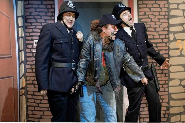 Polizisten im Fettnäpfchen