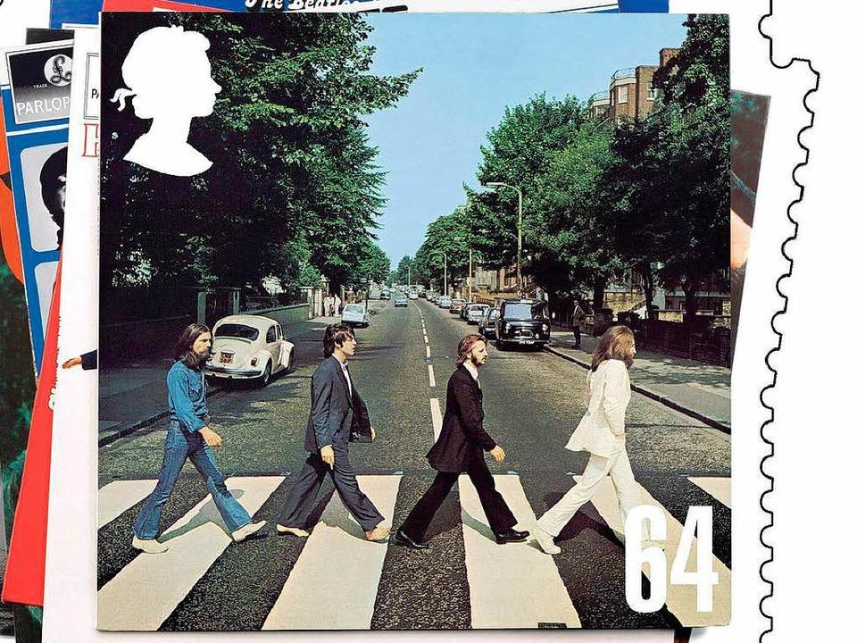 Das Originalmotiv der Platte. Das Bild...chen Post, der Royal Mail,  geschafft.  | Foto: dpa, usage Germany only, Verwendung nur in Deutschland