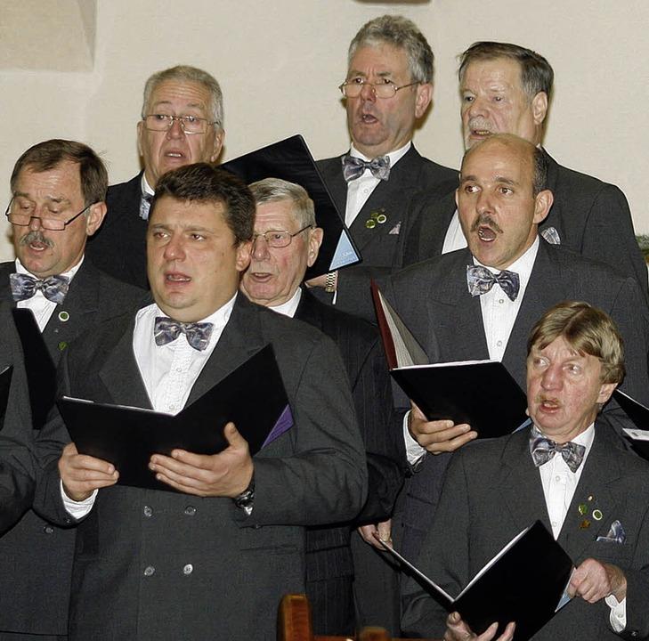 Wylerter Sänger servieren bei ihrem Konzert ein breit gefächertes Repertoire.   | Foto: Heidi Fössel