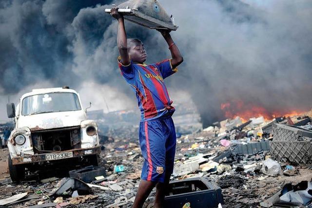 Müllhalde in Ghana wird Unicef-Foto des Jahres