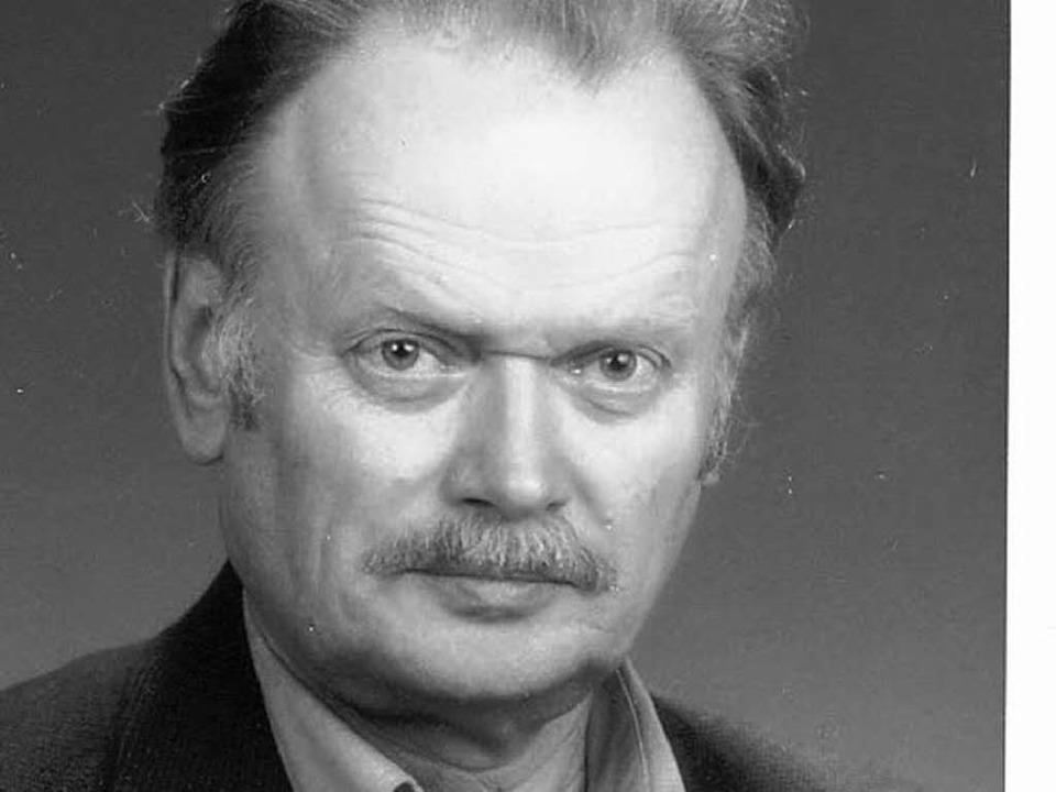 Günter Altner (Archivbild aus dem Jahr 2003)  | Foto: privat