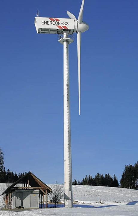 Das Windrad auf dem Hohwart in Breitnau.   | Foto: Dieter Maurer