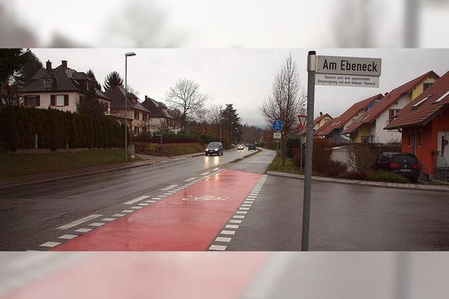 Bremsklötze für Schwimmbadstraße