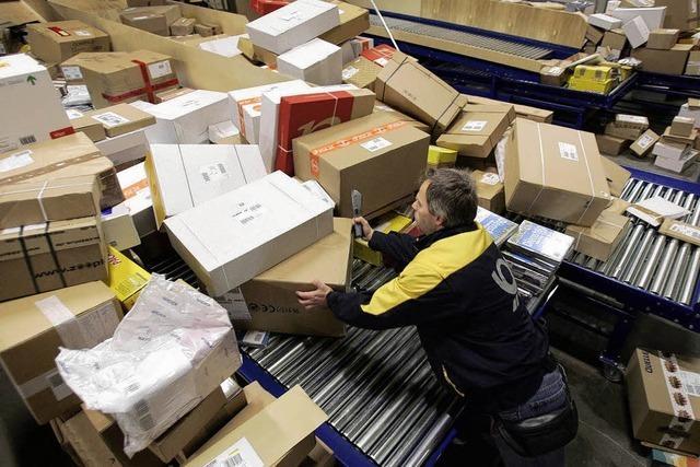 Im Paketzentrum geht die Post ab