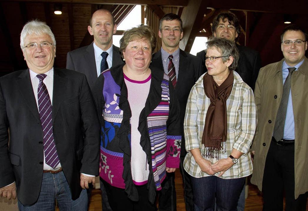 Verabschiedung Karin Tritschler (von l...el Schneiderberger (ehemaliger Rektor)  | Foto: Christiane Seifried