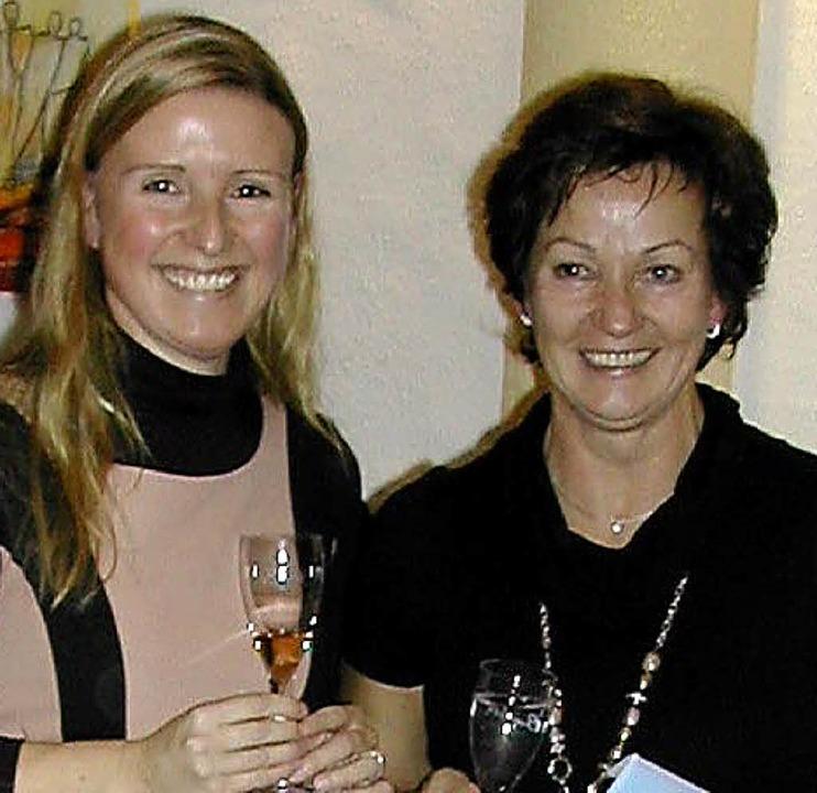 Kurdirektorin Rebecca Paul (links) und Elsa Martin    Foto: privat