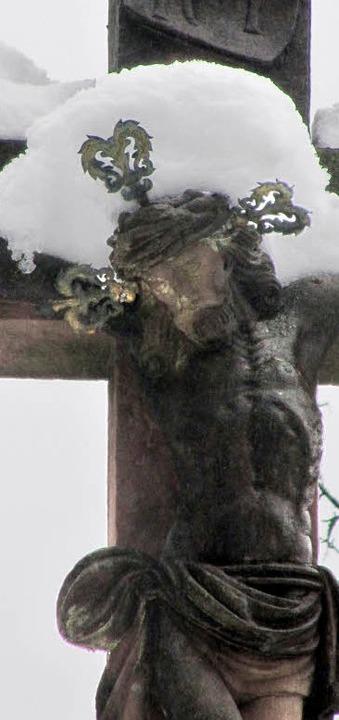 Corpus des Steinernen Kreuzes  in der Friedrichstraße.   | Foto: Filz