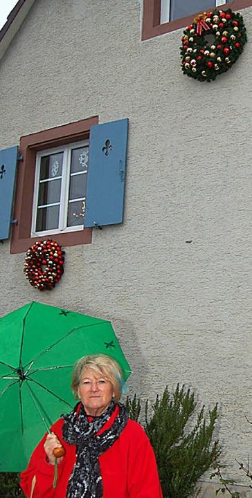 Irene Kamann möchte das Hörnle als Tor...hland weihnachtlich geschmückt sehen.   | Foto: Heinz Vollmar