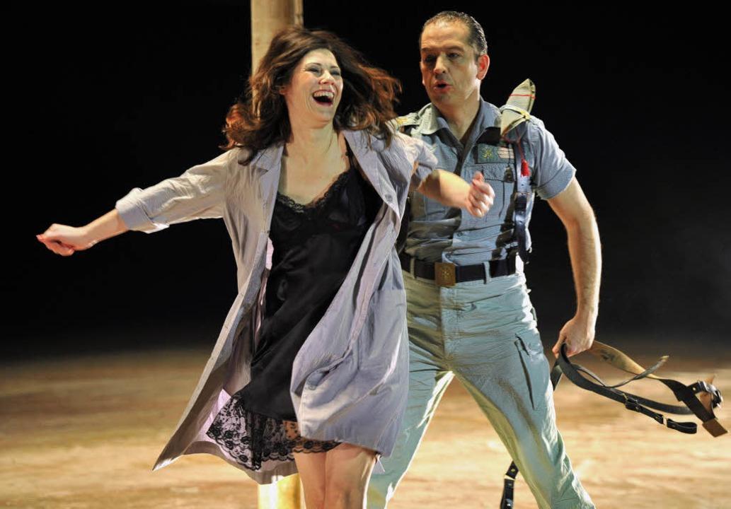 Tanja Ariane Baumgartner in der Carmen-Inszenierung am Basler Theater  | Foto: Hans-Joerg Michel