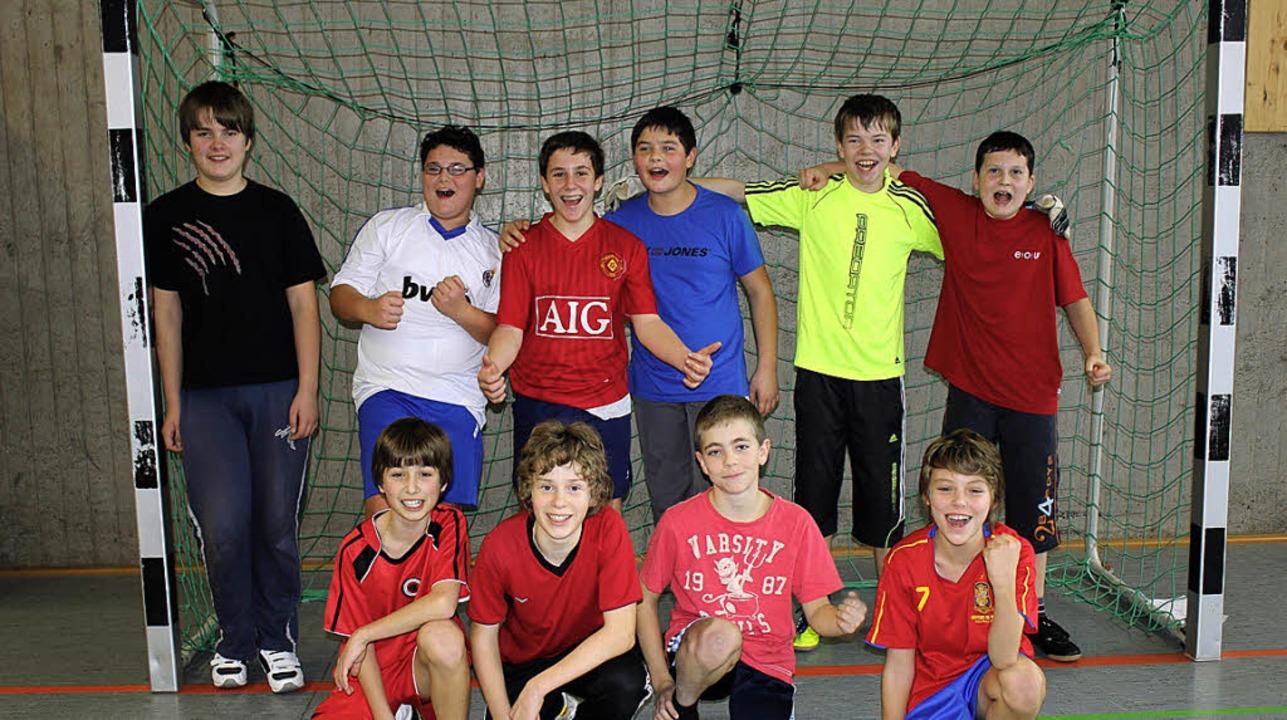 Fußballmeister der Silberbergschule: D...ßen Turnier in der  Oberstufengruppe.     Foto: Privat