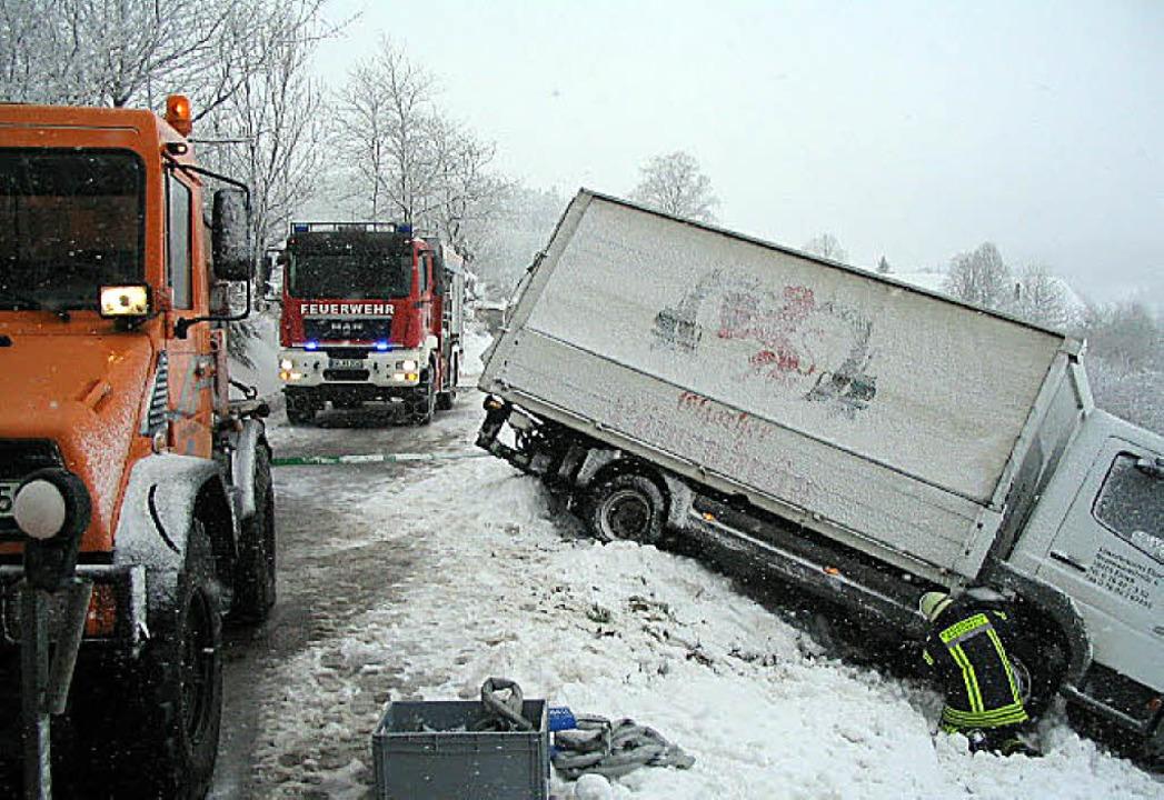 Vom rechten Pfad abgekommen: Laster am Bäreneckle.   | Foto: berth. meier
