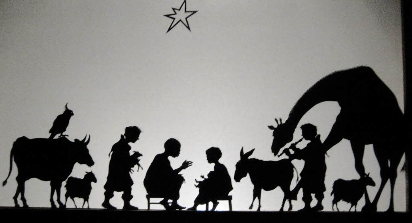 Die Weihnachtskrippe einmal anders: al...0; in der Steingasse in Wolfenweiler.     Foto: Anne Freyer
