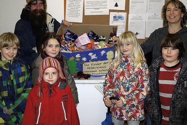 Kinder sammelten für Obdachlose