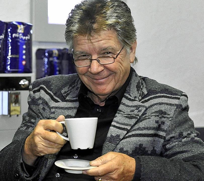 Egon Wellenbrink mit Tässchen  | Foto: bamberger