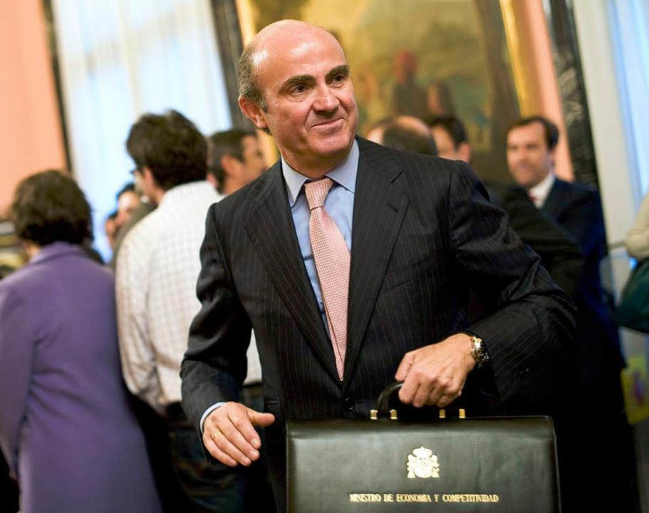 Wirtschaftsminister Luis de Guindos     Foto: AFP