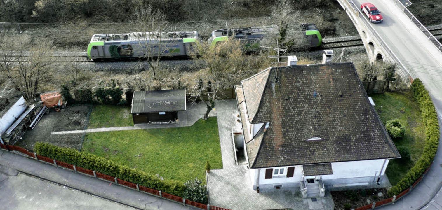 Leben mit der Bahn – das Häusche...Familie Jurkschat an der Güterstraße.   | Foto: UTKE
