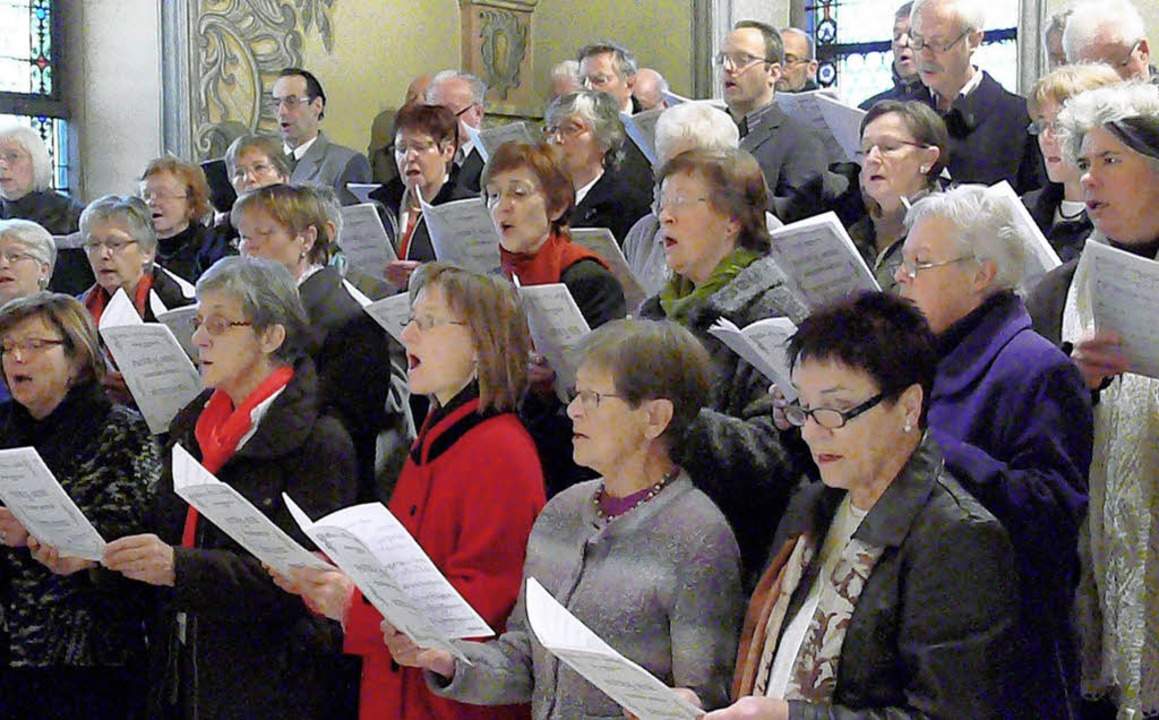Die Chorgemeinschaft Hohberg gestaltet den Festgottesdienst in St. Gallus  mit.     Foto: Frank Leonhardt