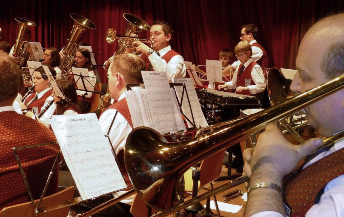 Manuel Langenbacher glänzte mit einem Solo beim Jahreskonzert des Musikvereins.     Foto: Heidrun Simoneit