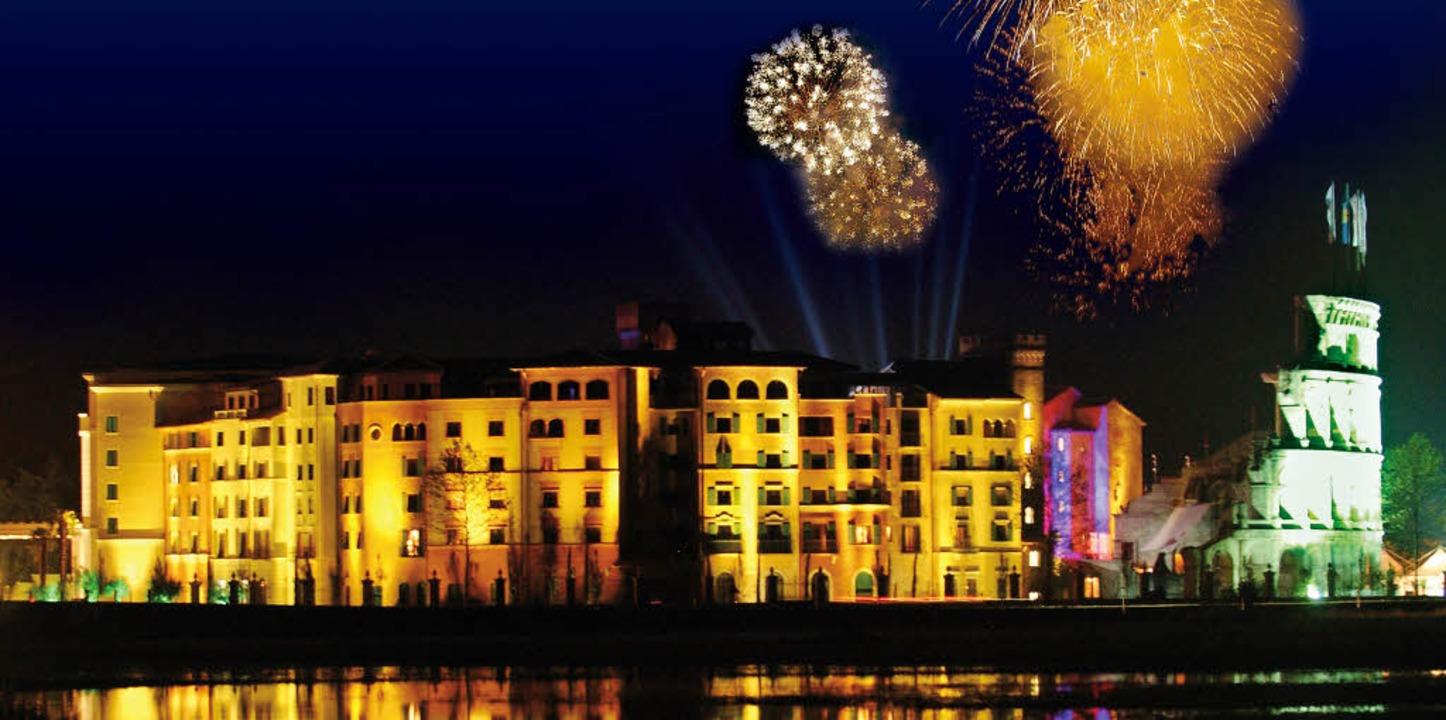 Immer wieder schön anzusehen: das Silvesterfeuerwerk über dem Europa-Park.  | Foto: Europa-Park