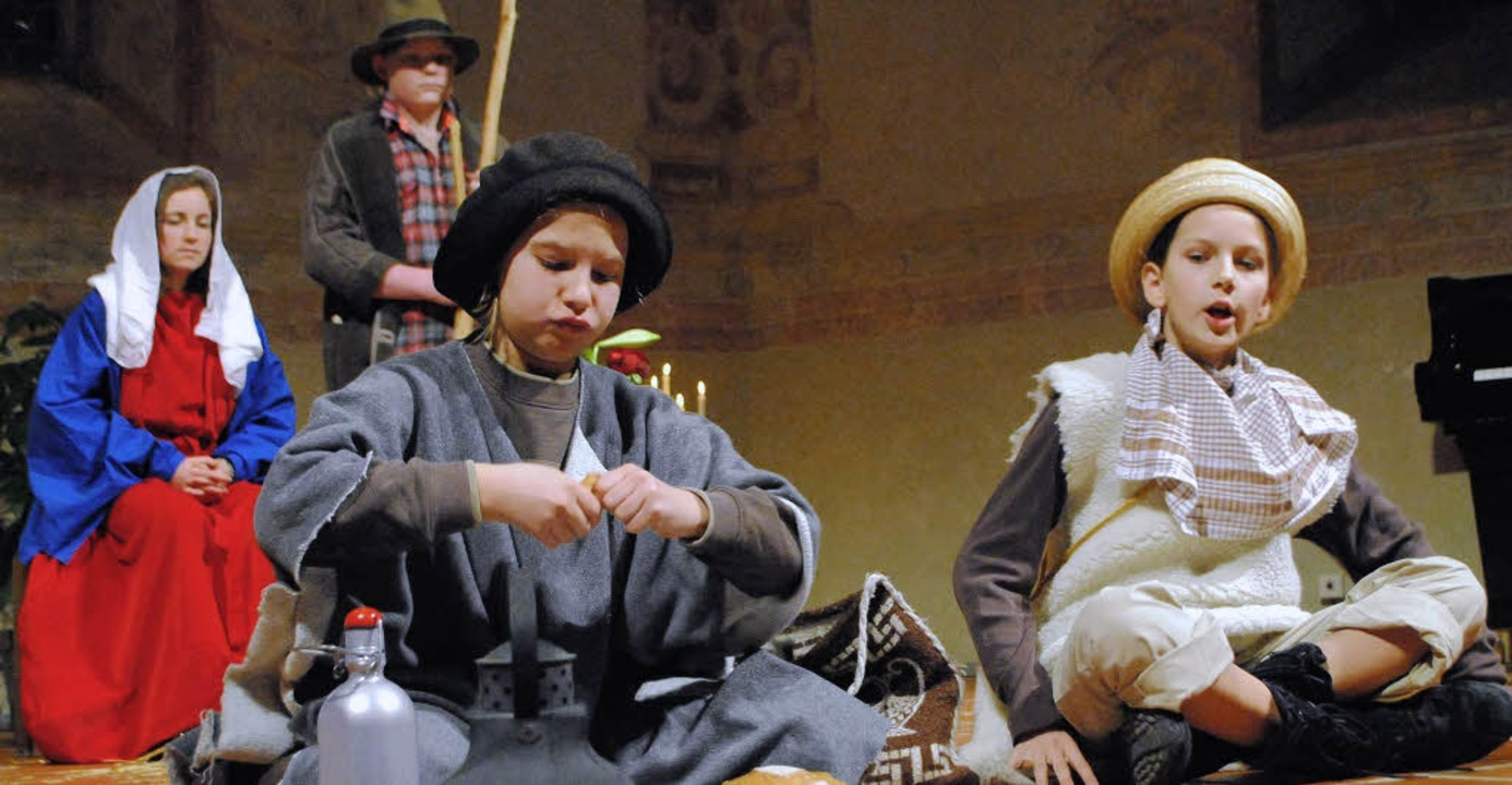 Mitreißend und mit echt schauspieleris...tellerischen Szenen des Krippenspiels.    Foto: Ehrlich