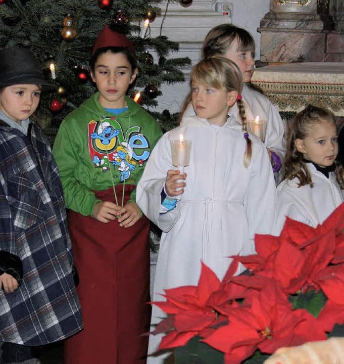 Das  Schauspieltalent, das die Kinder ...n, begeisterte nicht nur Pater David.     Foto: Andreas Böhm