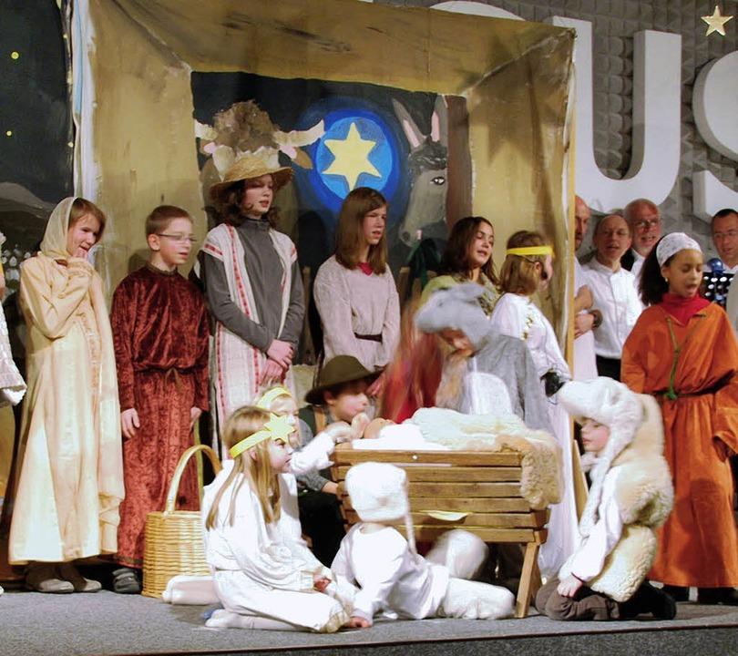 Mit viel Freude führte die Chrischona-...achtsmusical Stern über Bethlehem vor.    Foto: Danielle Hirschberger