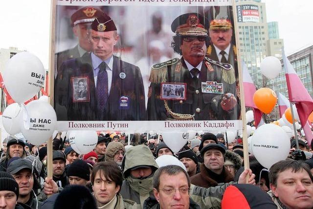 Behörden gaben sich bei Protesttag in Russland kulant