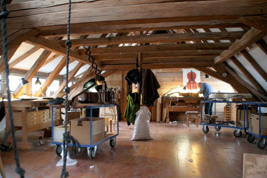 Lichtdurchflutet: die Werkstatt  | Foto: erika sieberts