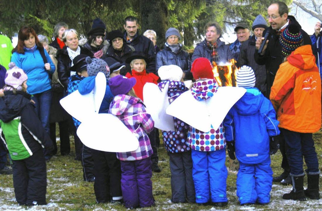 erste Waldweihnacht in Lenzkirch 2011  | Foto: Manfred-G. Haderer