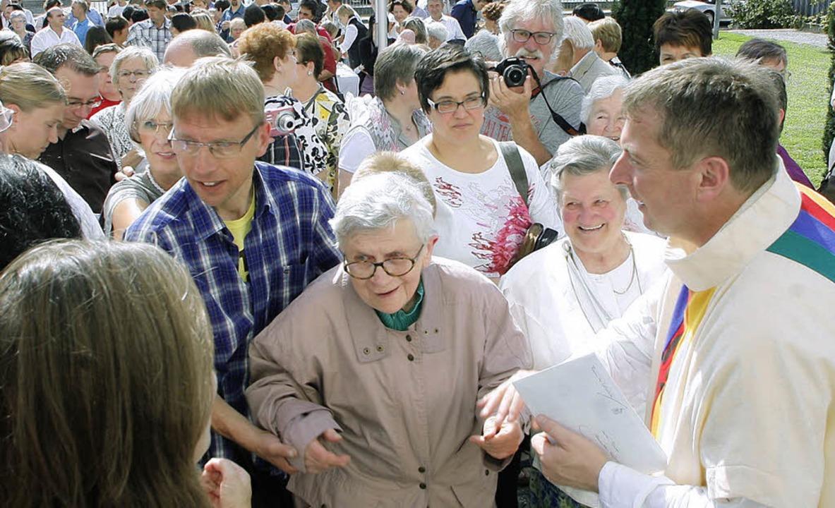 Ein bewegender Abschied für Friesenhei...Pfarrer Alexander Hafner im September   | Foto: Heidi Fössel