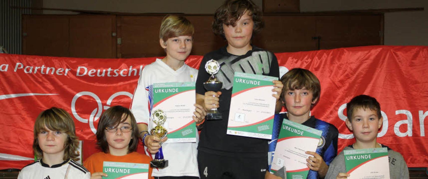 Die Sieger bei den Tischtennis-Minimei...rden zum Bezirksentscheid eingeladen.   | Foto: BZ