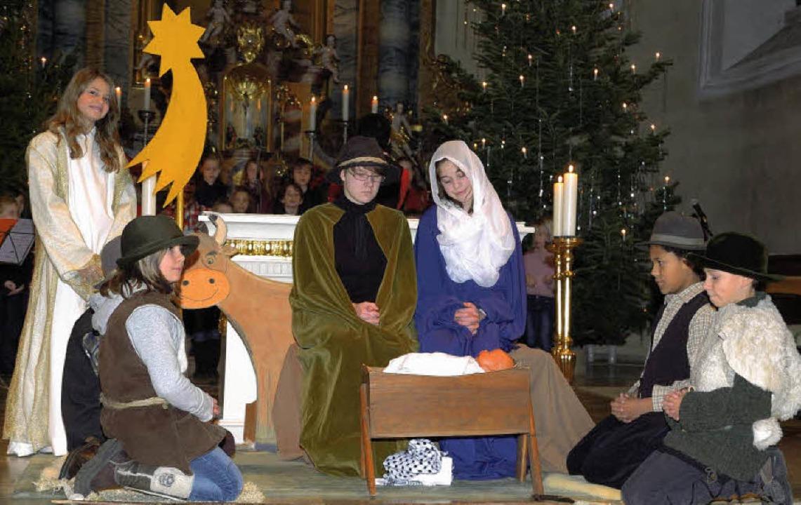 Viel Anklang fand das Krippenspiel, das in der Wyhler Kirche aufgeführt wurde.    Foto: Jürgen Schweizer