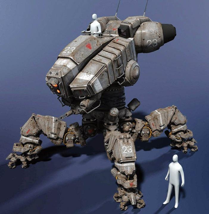 An diesem vierbeinigen Robotermodell arbeitet Michael Herm derzeit.  | Foto: Privat